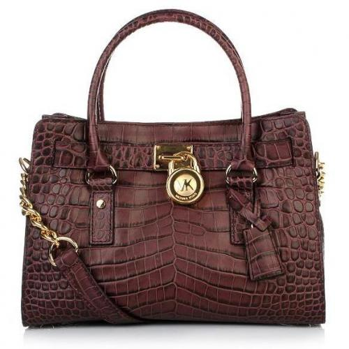 Michael Kors Hamilton Tote Bag small bordeaux