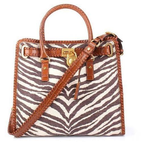 Michael Kors Hamilton Whipped LG Tote Canvas Tiger