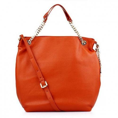 Michael Kors Jet Set Chain Item LG Shoulder Tote Burnt Orange