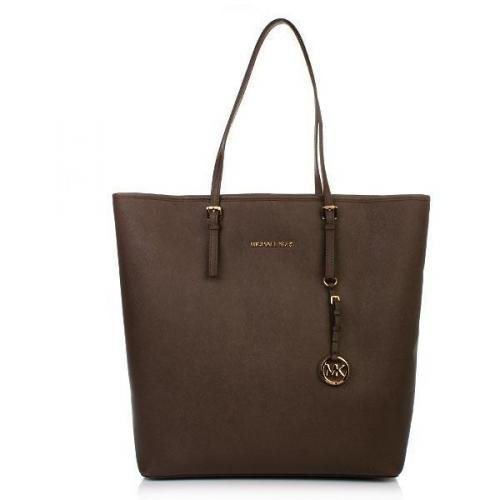 Michael Kors Jet Set Travel Tote NS Coffee