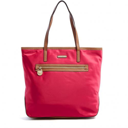 Michael Kors Pink Large Kempton North South Nylon Tote