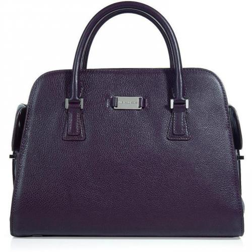 Michael Kors Plum Leather Satchel