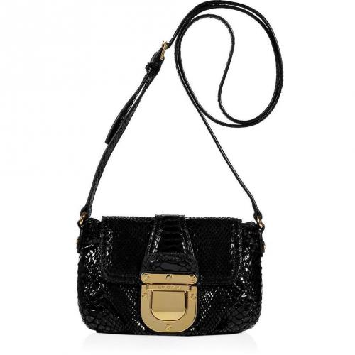 Michael Michael Kors Black Embossed Leather Crossbody Bag