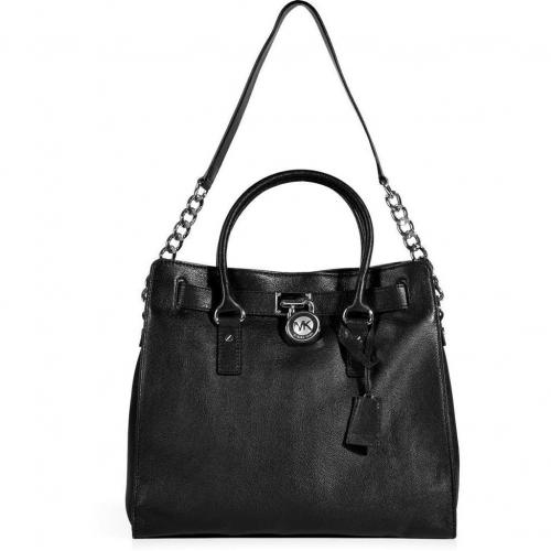 Michael Michael Kors Black Leather Tote