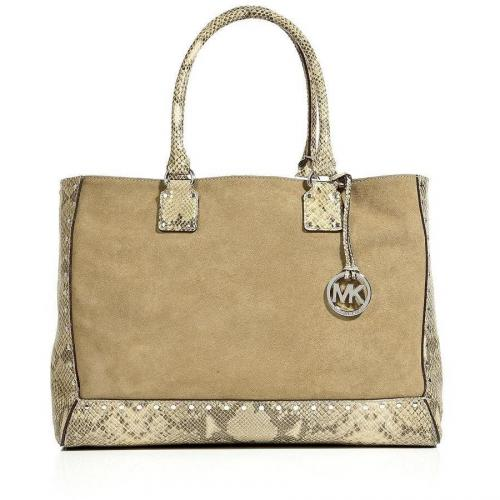 Michael Michael Kors Khaki Combo Leather Tote