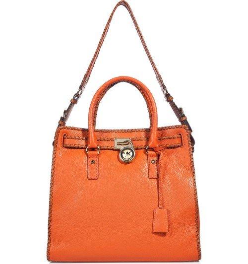 Michael Kors Burnt Orange Tote Bag Hamilton Whipped