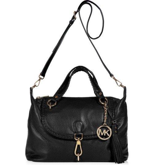 michael kors black satchel bag bennet with tassels designer handtaschen paradies it bags. Black Bedroom Furniture Sets. Home Design Ideas