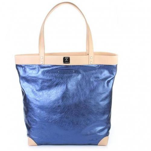 Michalsky Metallic Shopper Blue
