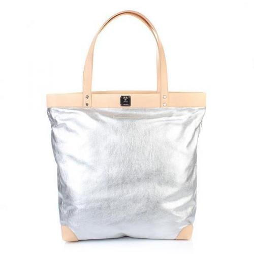 Michalsky Metallic Shopper Silver