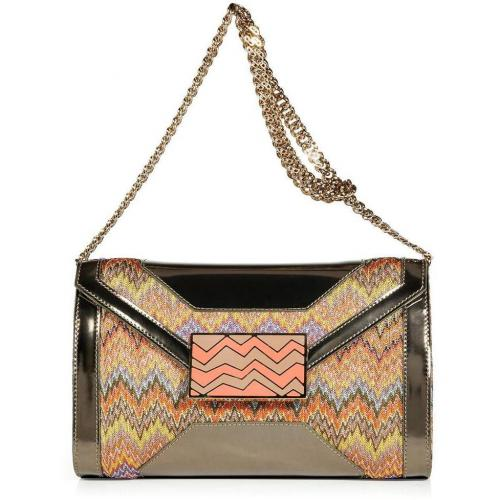 Missoni Mandarin Multi-Pastel Lurex and Leather Clutch