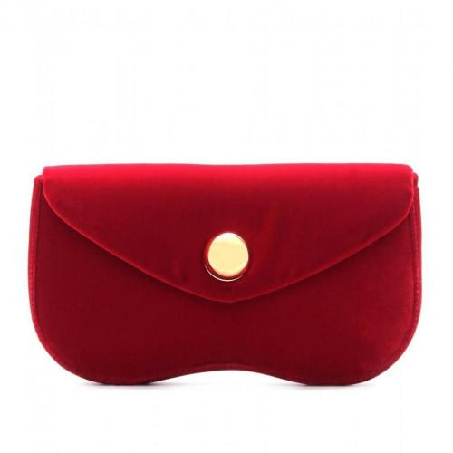 Miu Miu Samtclutch Cherry