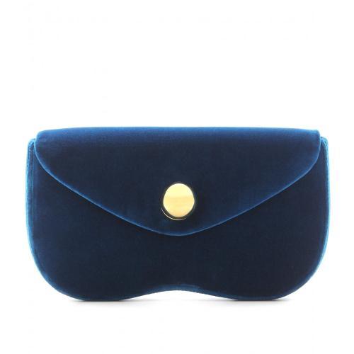 Miu Miu Clutch Samt Blau