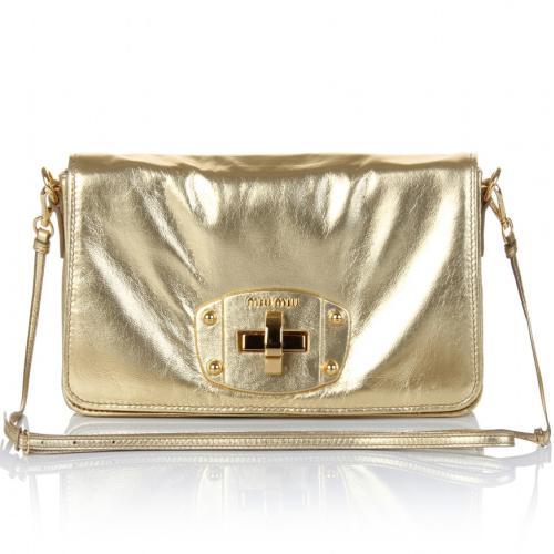 Miu Miu Mini-Tasche Gold
