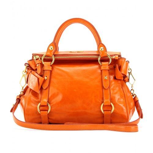 Miu Miu Handtasche mit Schleifendetails Orange