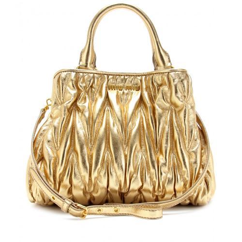 Miu Miu Matelassé Tasche Gold