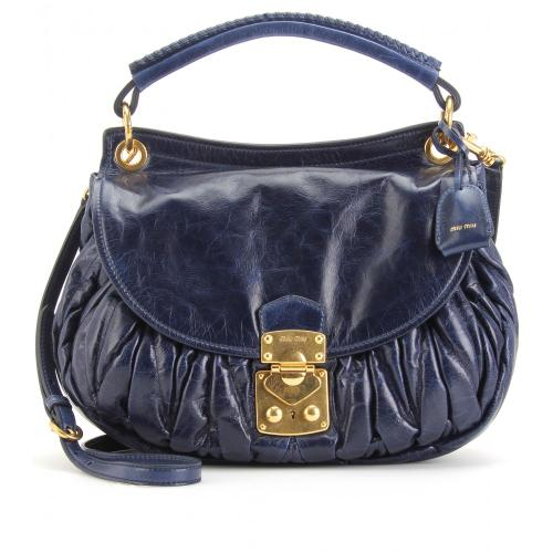 Miu Miu Matelassé Handtasche Blau
