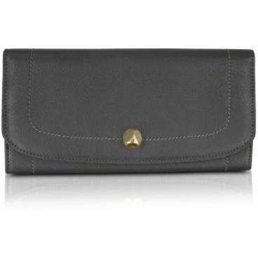 Moreschi Continental Brieftasche aus Leder in dunkelgrau