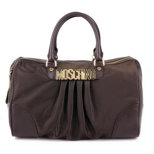 moschino big shoulderbag brown gold. Black Bedroom Furniture Sets. Home Design Ideas