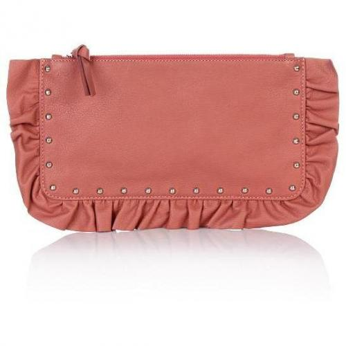 Moschino cheap and chic Clutch Rosa mit Nieten