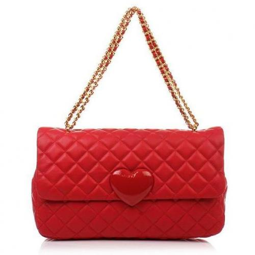Moschino cheap and chic Ledertasche Red Heart