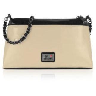 Moschino Handtasche in elfenbeinfarben und schwarz