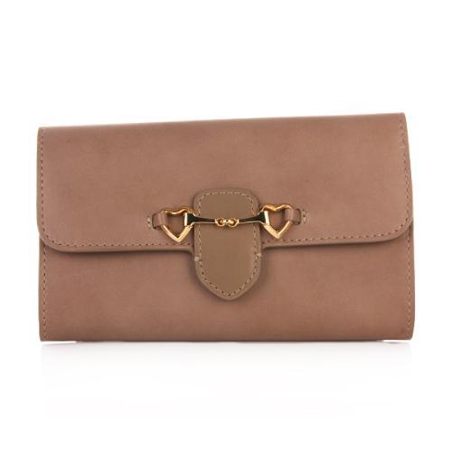 Moschino Brieftasche braun Herzen