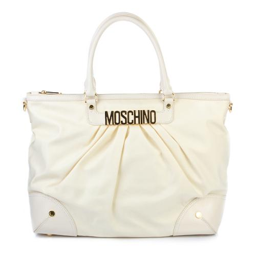 Moschino Tote Large Creme Weiss