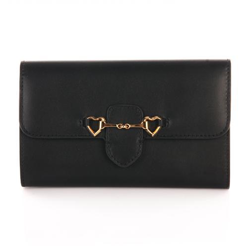 Moschino Brieftasche schwarz Herzen
