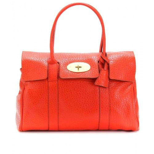 Mulberry Bayswater Shiny Grain Ledertasche