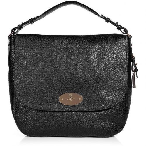 Mulberry Black Postmans Lock Soft Large Grain Shoulder Bag