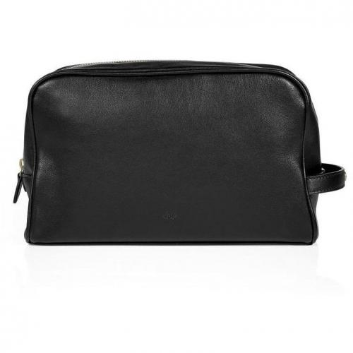 Mulberry Black Soft Nappa Wash Case with Handle