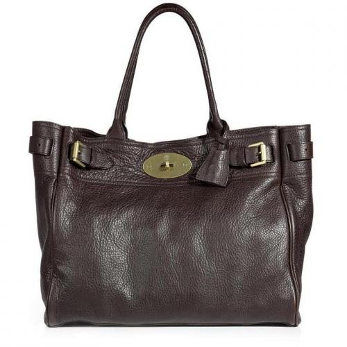 Mulberry Chocolate Bayswater Tote