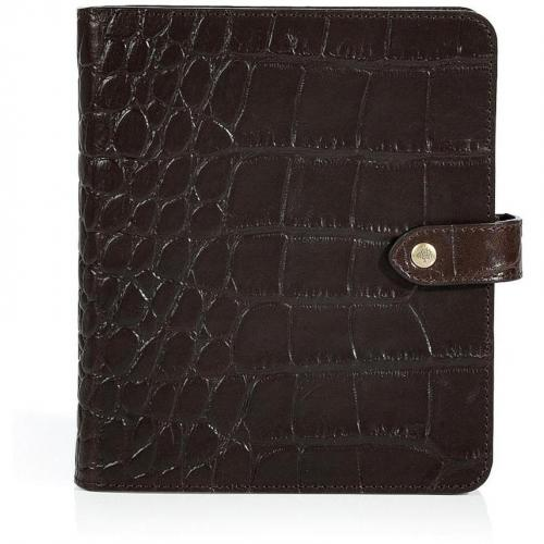 Mulberry Chocolate Embossed Leather Agenda