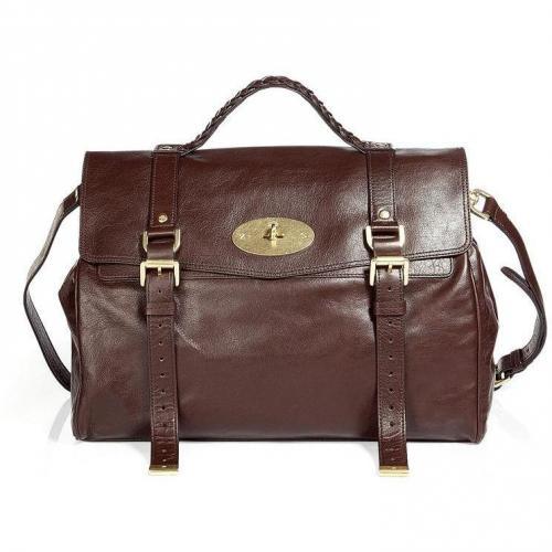 Mulberry Chocolate Oversized Alexa Soft Buffalo Bag