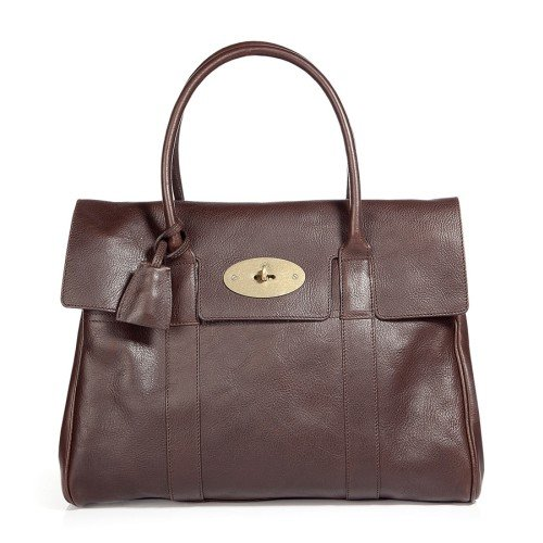 Mulberry Chocolate Bayswater Natural Veg Tanned Tasche