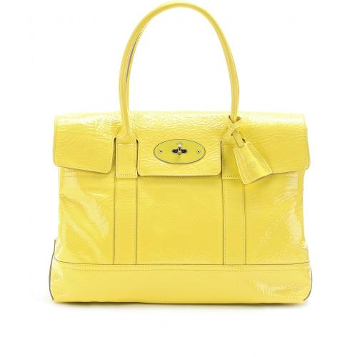 Mulberry Holiday Bayswater Lackleder Gelb