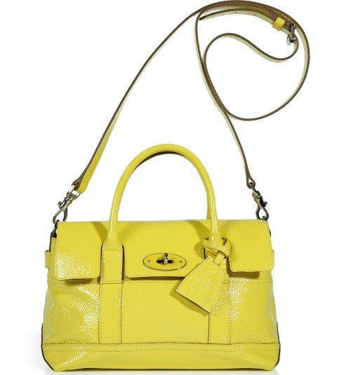 Mulberry Lemon Sherbet Small Holiday Bayswater Satchel