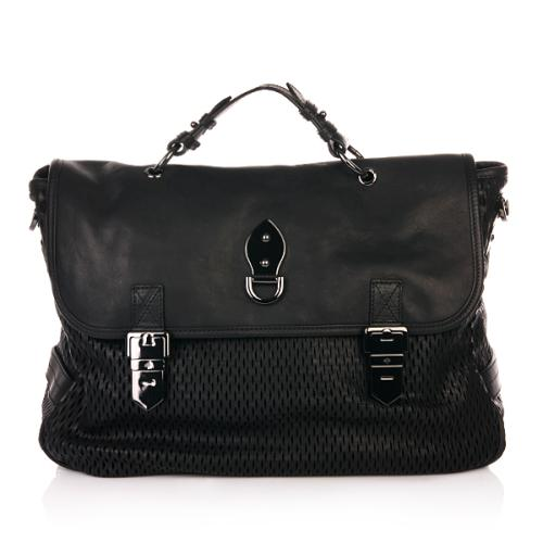 Mulberry Oversized Tillie Black Mesh Natural Leather and Suede Mix