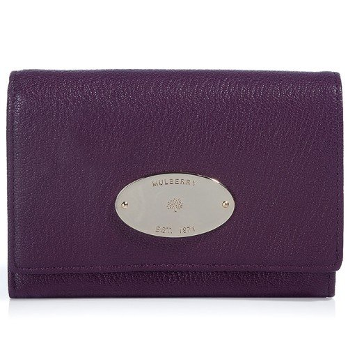 Mulberry The French Eggplant Soft Goat Purse