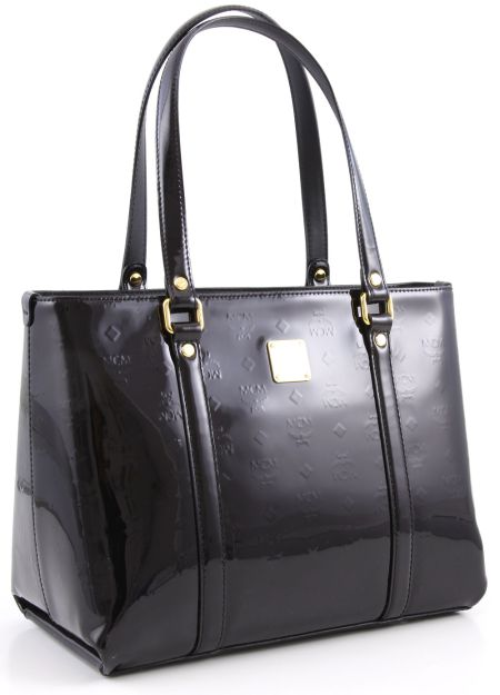 MCM Shopper Ivana Patent Medium