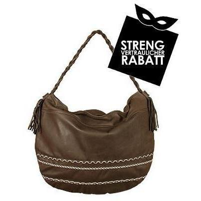 Nicoli Twist - Grosse Handtasche aus Kalbsleder in dunkelbraun