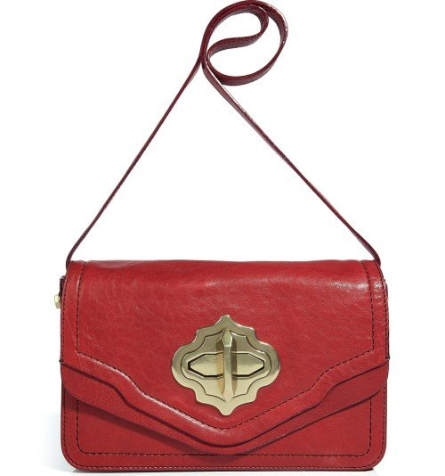 Oryany Bright Red Small Turnlock Cross Body Tasche