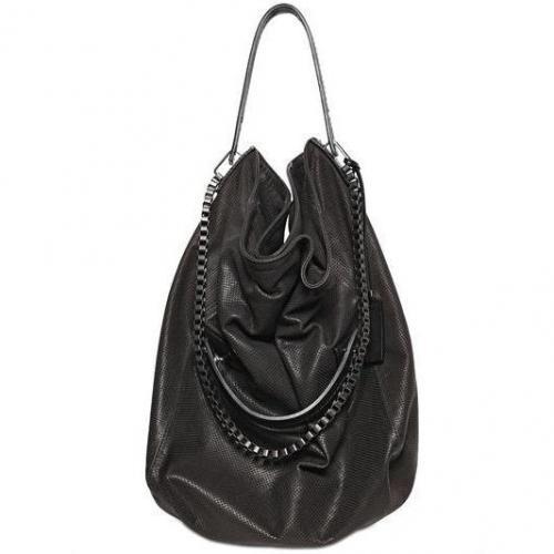 Pauric Sweeney - H-Box Perforierte Leder Handtasche