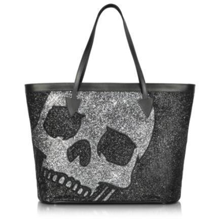 Philipp Plein Big Skull - Shopper mit Kristallen, Perlen und Pailetten