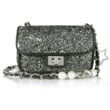 Philipp Plein Glitter Mini-Tasche