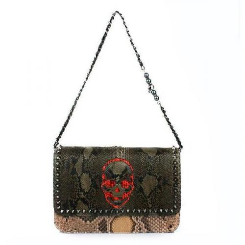 Philipp Plein Hand Bag Reptile Military