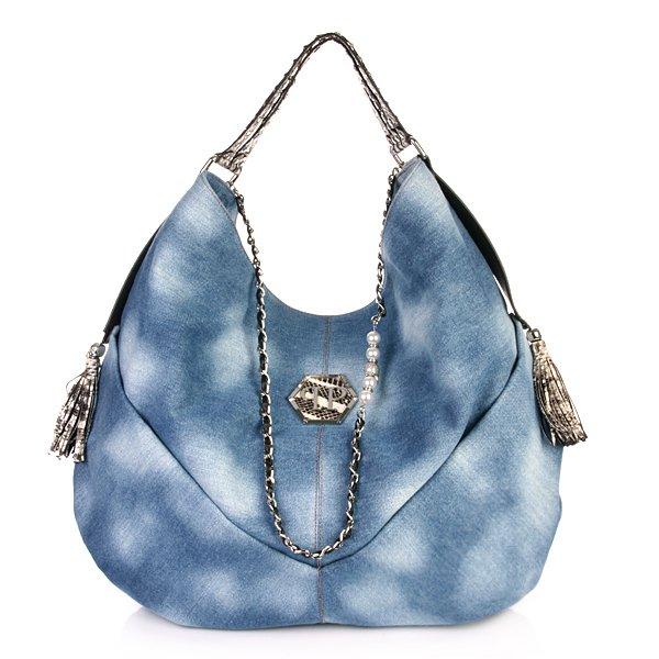 Handbag Hippie Light Blue