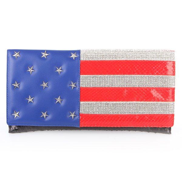"""Philipp Plein Clutch USA Flagge """"Hollywood Black"""""""