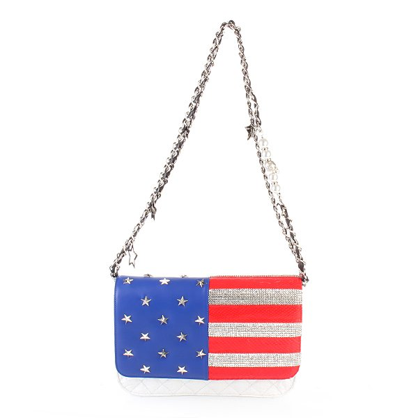 Philipp Plein Handbag S Superhero White Motiv USA Flagge