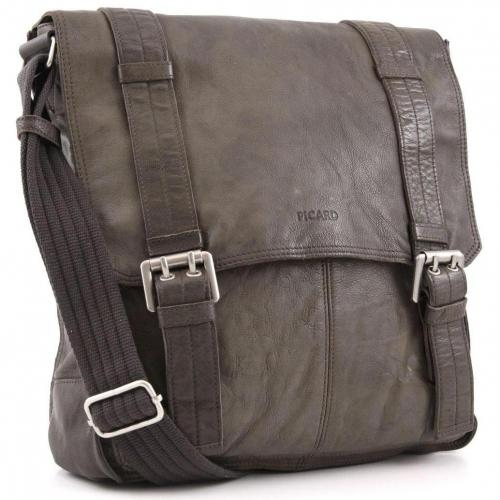 Picard Business Gobi Schultertasche Leder taupe